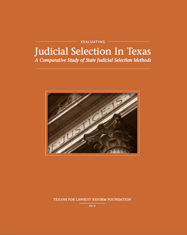 Evaluating  Judicial Selection In Texas: A Comparative Study of State Judicial Selection Methods